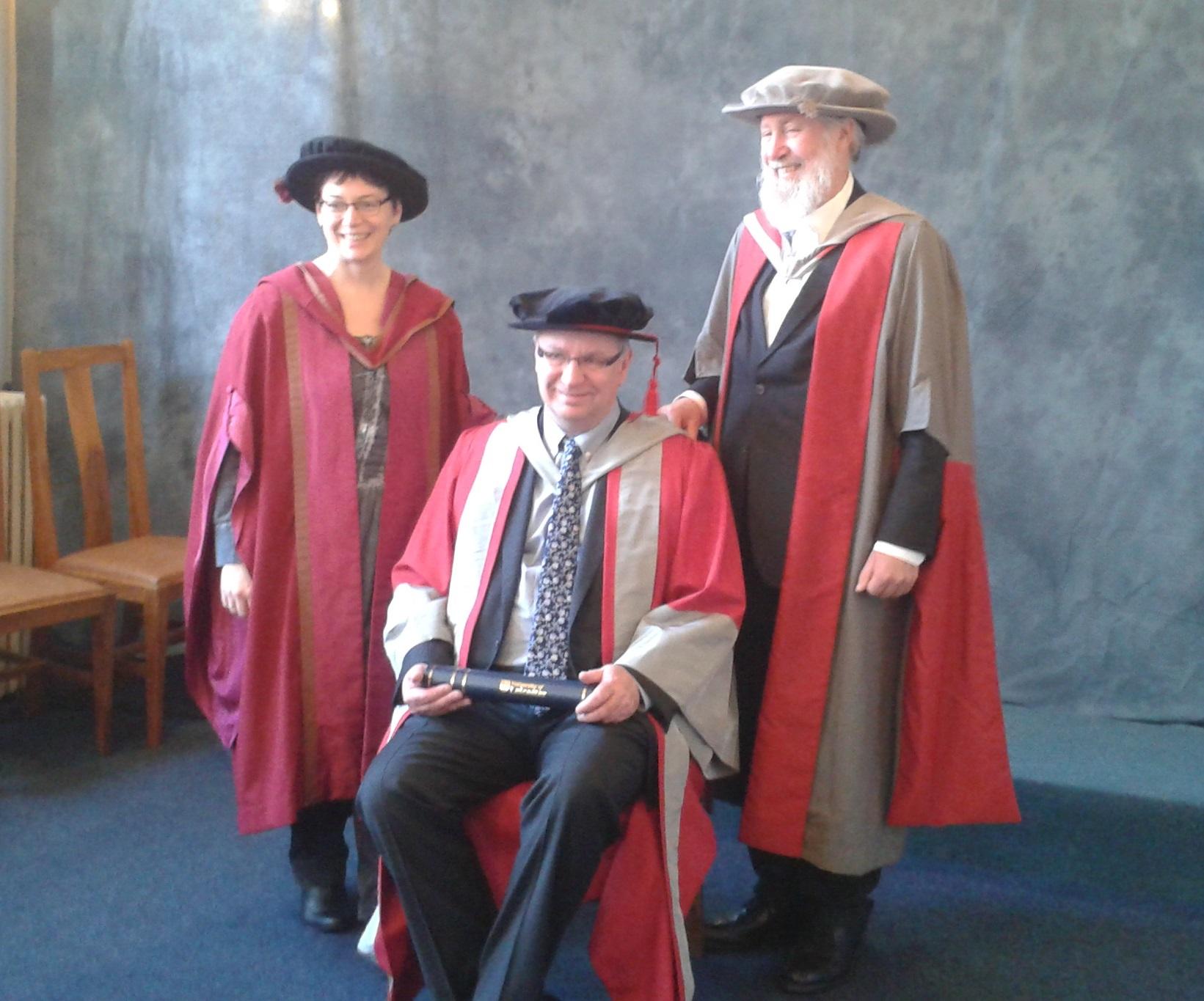 2015 - With Professors Julie Coleman and Gordon Campbell DLitt Leicester.jpg