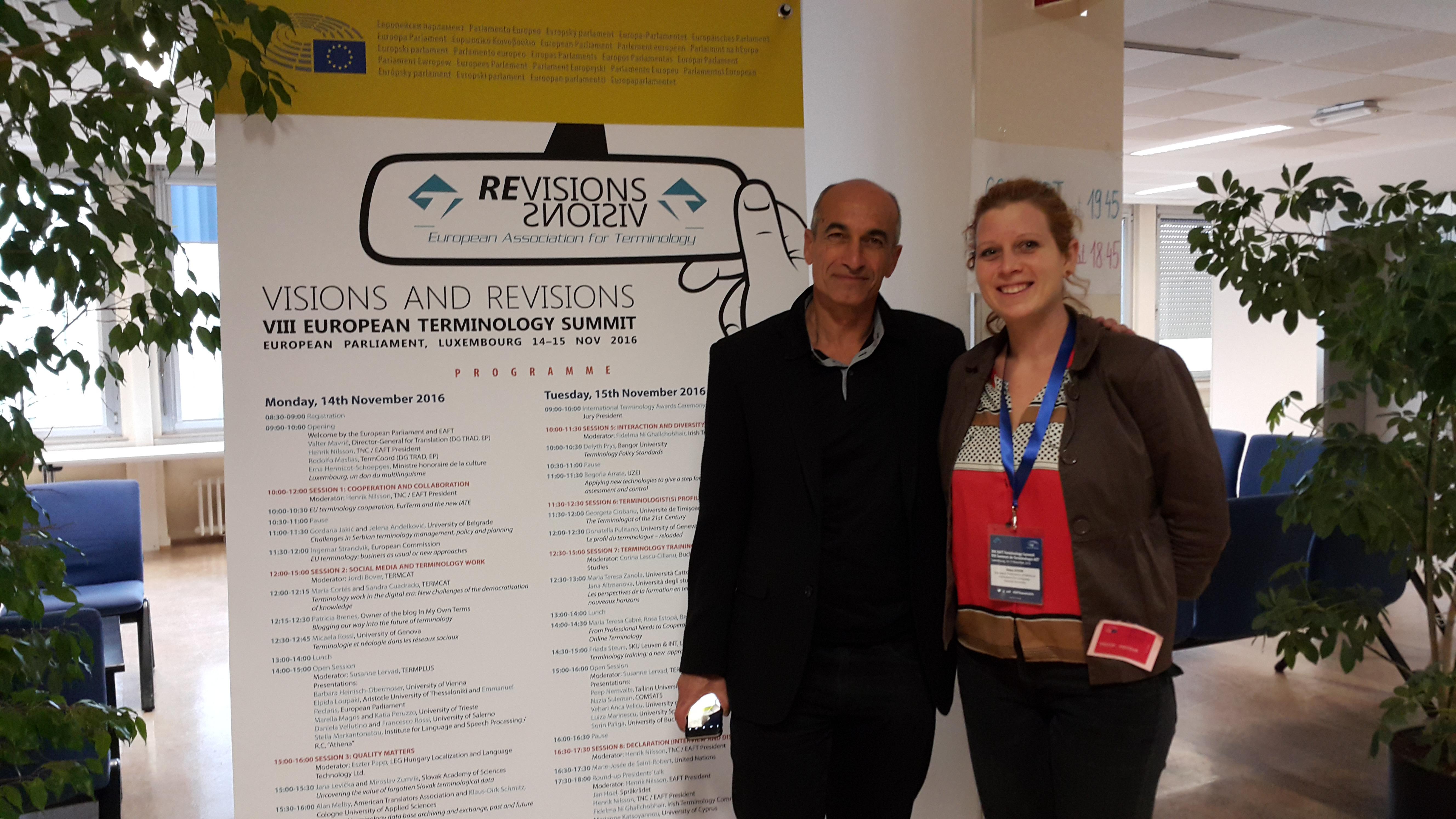 EFNIL at the European Terminology Summit 2016